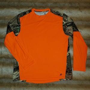 Energy Zone Mossy Oak Athletic Hunting Camo Shirt